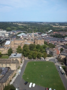 Looking down to Durham Castle