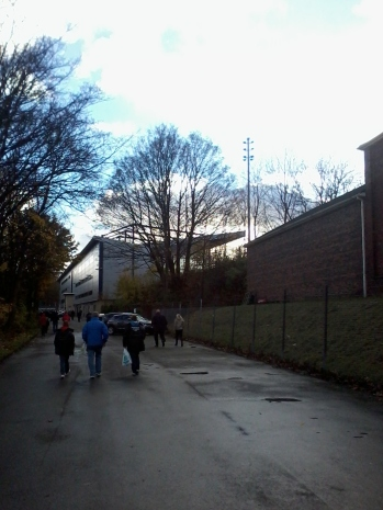 Walking up to the Shay's main stand.