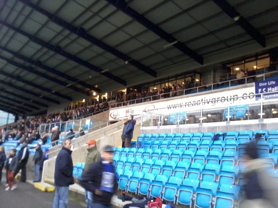 The main (and newest) stand at the Shay