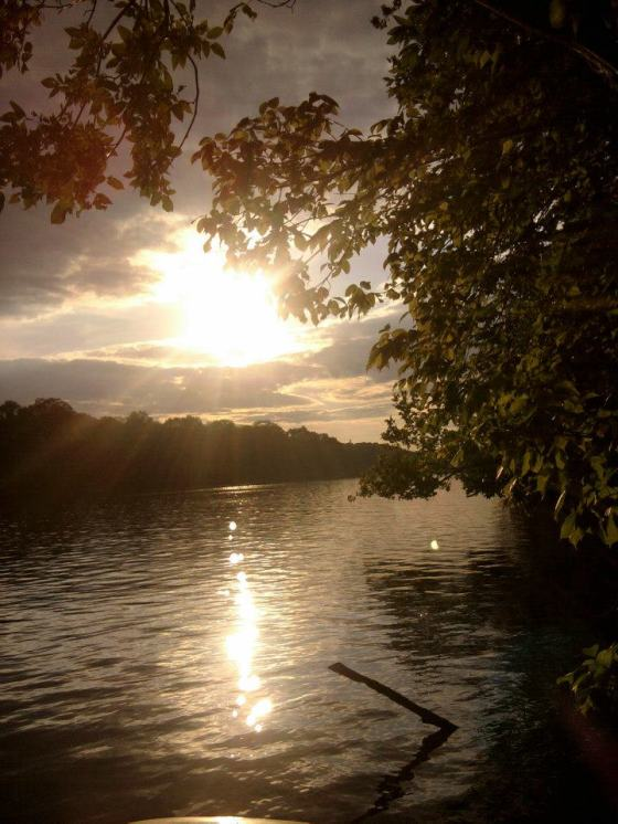 Sunset to die for over the Shenandoah River