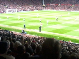 Fergie himself one the touchline: his bum was too squeaky