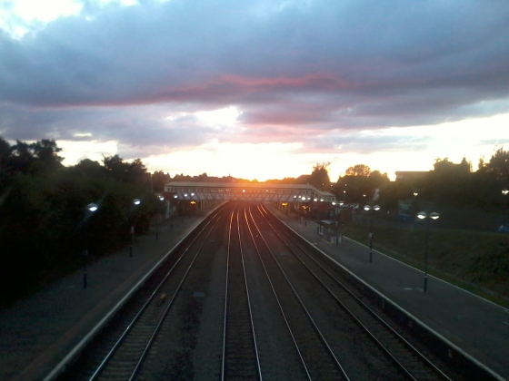 The Newbury Train Station - my link to the outside world